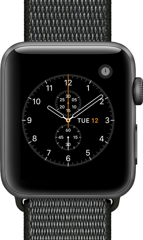 Immagine reale dimensione di  Apple Watch Series 3 (42mm) .