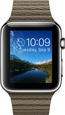 Immagine reale dimensione di  Apple Watch (42mm) .