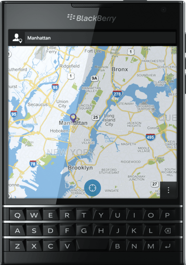 实际尺寸图像 BlackBerry Passport 。