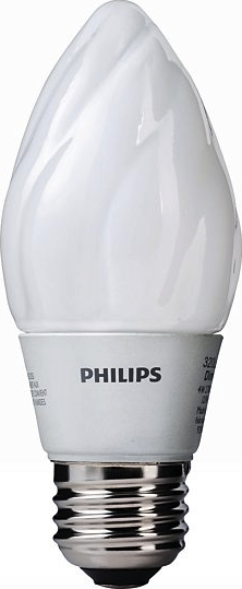 Actual size image of  Bulb E12 .