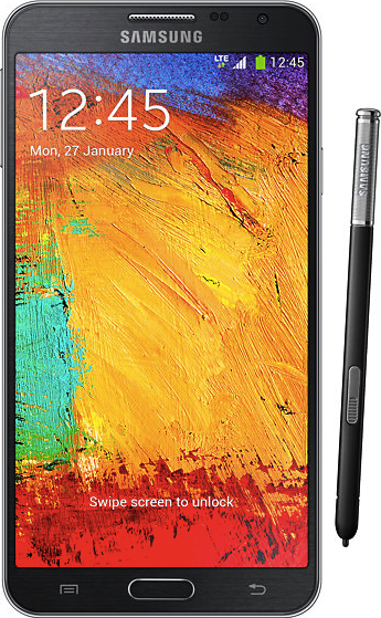 实际尺寸图像 Samsung Galaxy Note 3 Neo 。