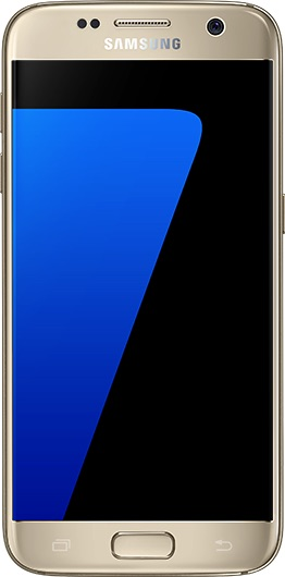 Actual size image of  Samsung Galaxy S7 Edge .