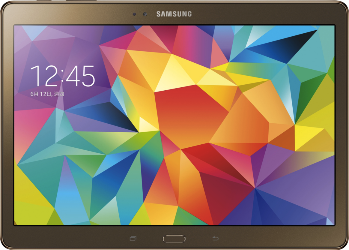 Actual size image of  Samsung Galaxy Tab S 10.5 .