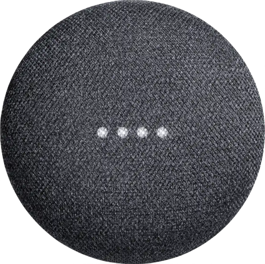 Actual size image of  Google Home Mini .