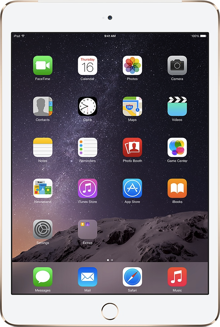 Actual size image of  iPad Air 2 .