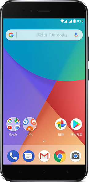 Actual size image of  xiaomi A1 .