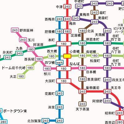 地下鉄 大阪メトロ 御堂筋線 路線図