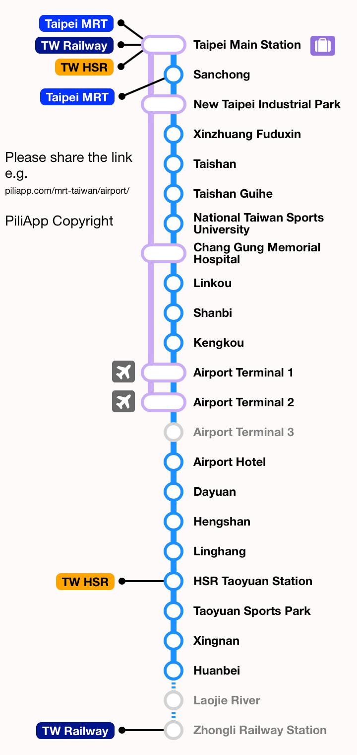Taiwan Taoyuan International Airport MRT