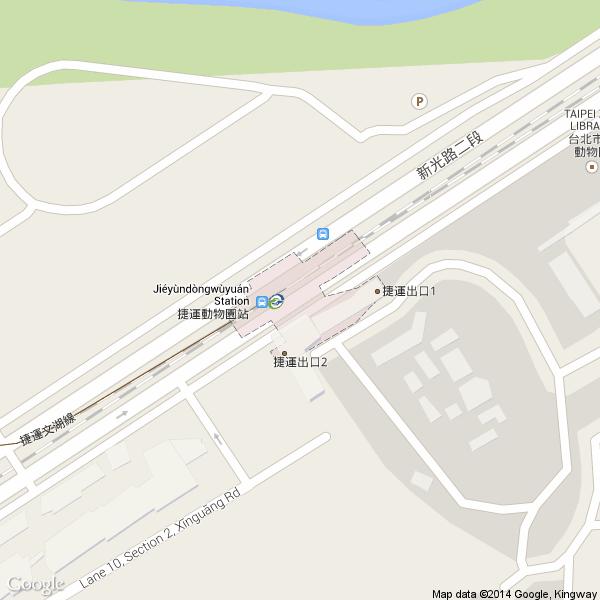 地图中查看公车资讯 捷运公车转乘资讯:动物园站   出口编号 转乘站牌